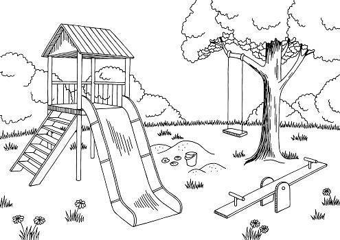Spielplatz Zeichnung