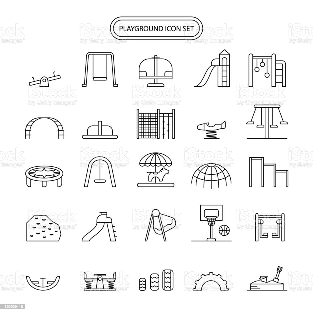 Playground Icon Set editable stroke