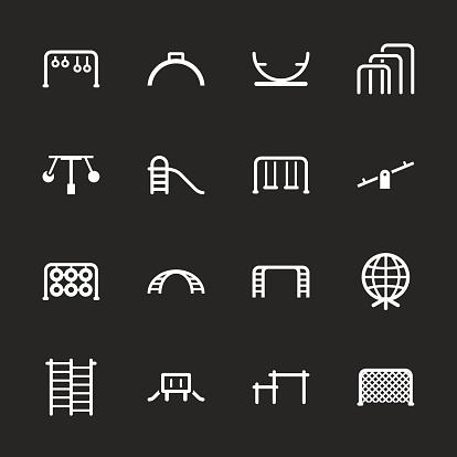 Playground Icons Set 2 - White Series
