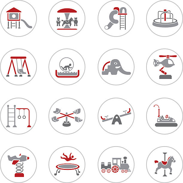 spielplatz symbole - kind schaukel stock-grafiken, -clipart, -cartoons und -symbole