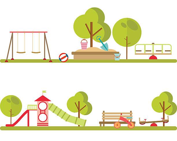 Playground infographic elements vector. - Illustration vectorielle