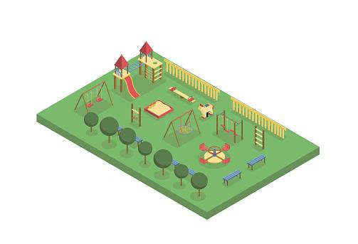 Playground Isometric Illustration