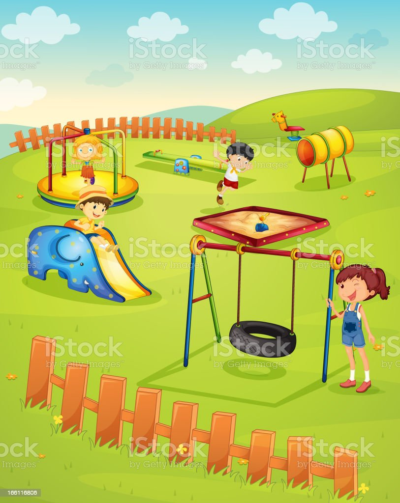 Playground royalty-free playground stock vector art & more images of activity