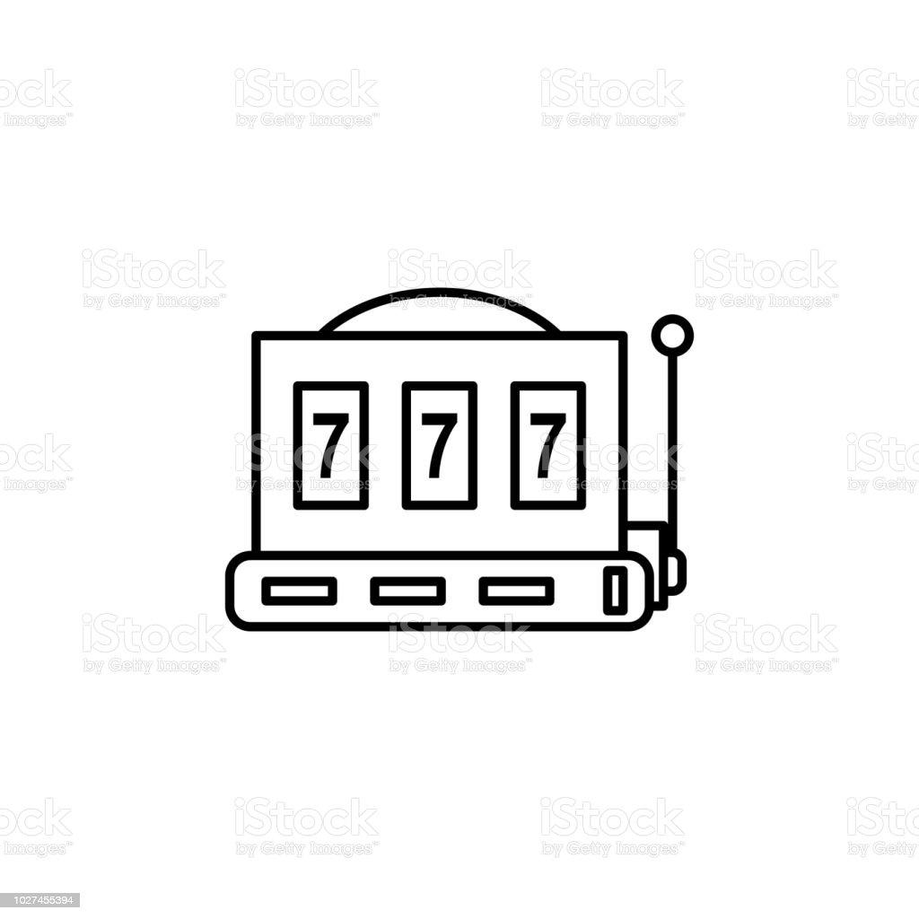 tocando el icono del aparato. Elemento de casino para móviles aplicaciones web y concepto. Icono de la delgada línea de diseño web y desarrollo, desarrollo de aplicaciones. Icono de Premium - ilustración de arte vectorial