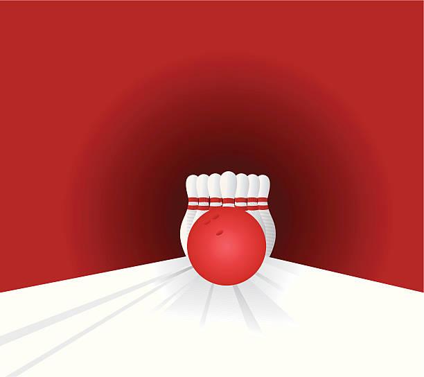 Playing bowling vector art illustration