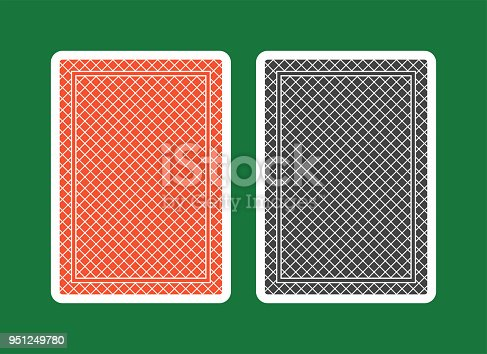 istock Playing Card Back, red and black 951249780