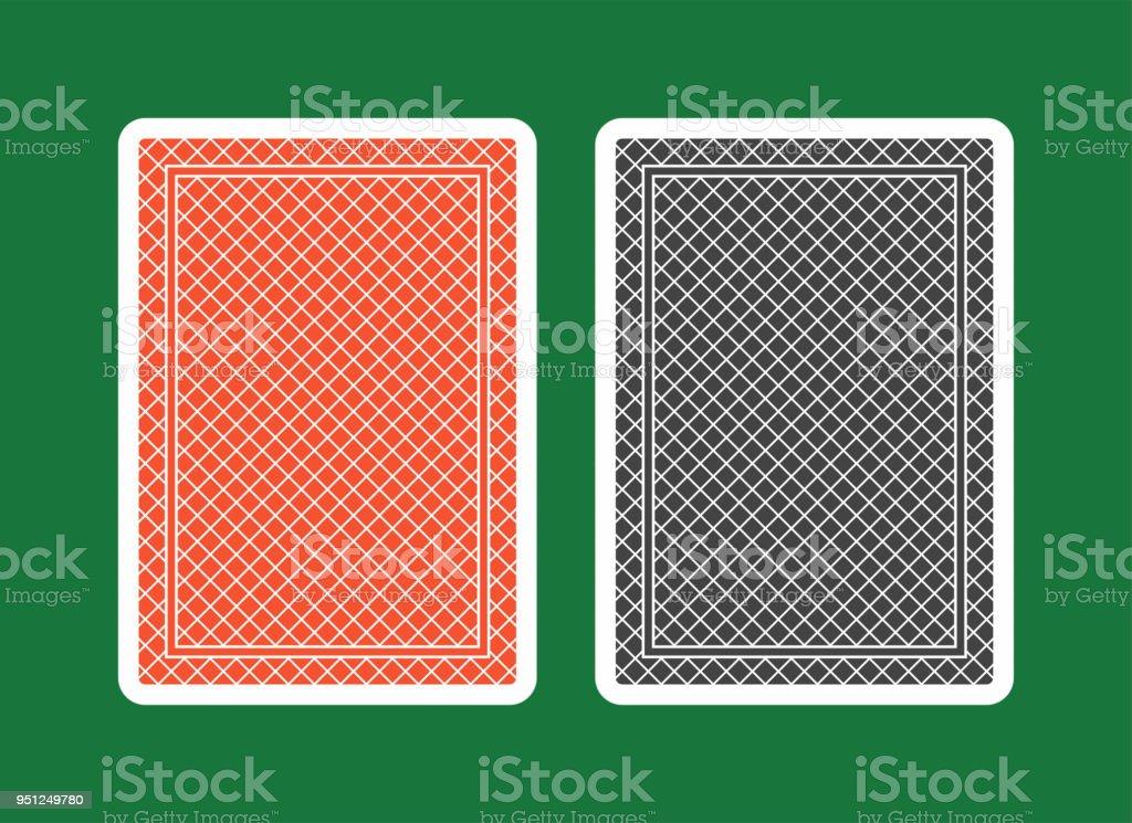 Cartão de jogo volta, vermelho e preto - ilustração de arte em vetor