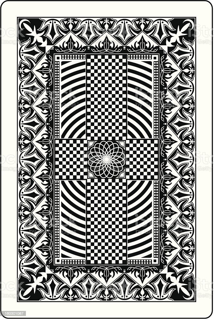 playing card back side 60x90 mm royalty-free stock vector art