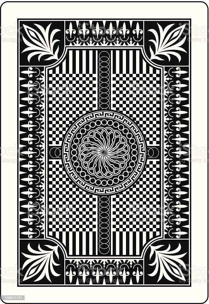 playing card back side 62x90 mm royalty-free playing card back side 62x90 mm stock vector art & more images of abstract