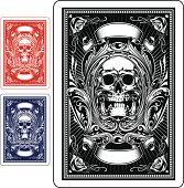 Back side design of playing card.