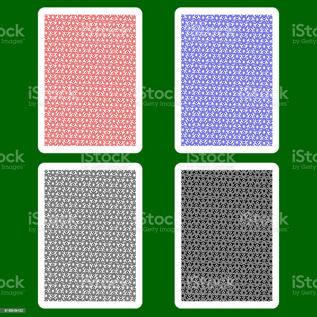Playing Card Back vector art illustration