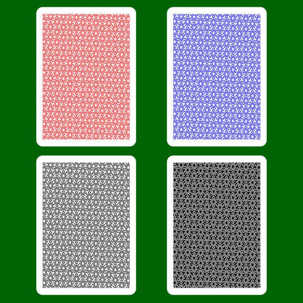 spielkarte rücken - kartenspielen stock-grafiken, -clipart, -cartoons und -symbole