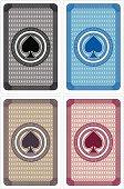 Playing card backs, Spades design