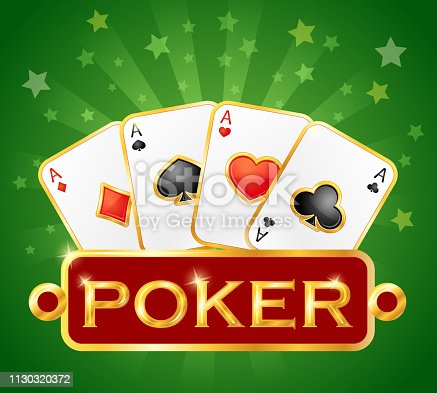 istock Playing card. Casino icons. Poker symbols 1130320372
