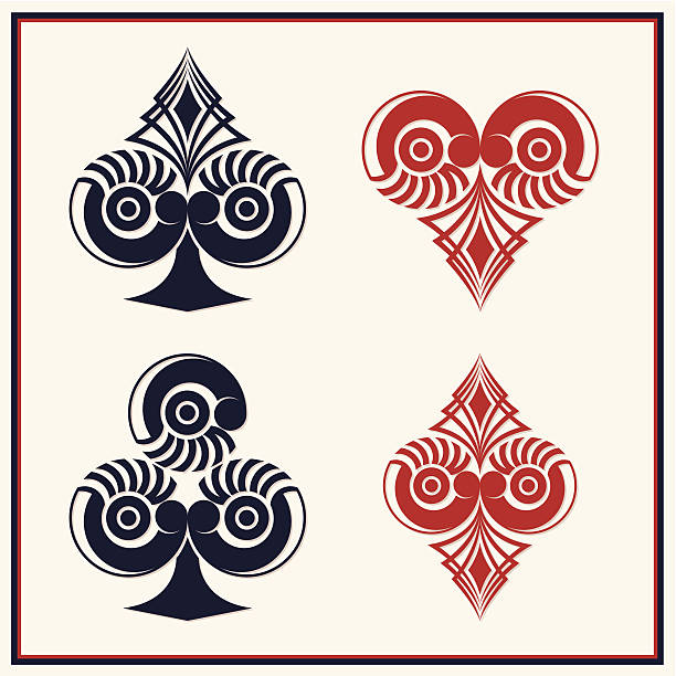 Playing Card Circle Style vector art illustration