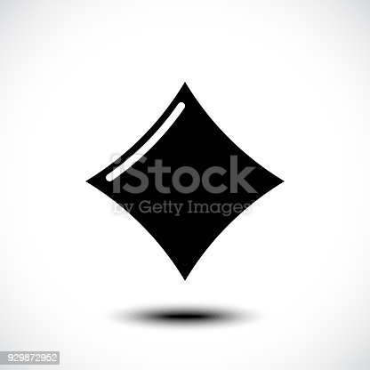 Playing Card Diamond Icon Vector Illustration Symbol Stock Vector