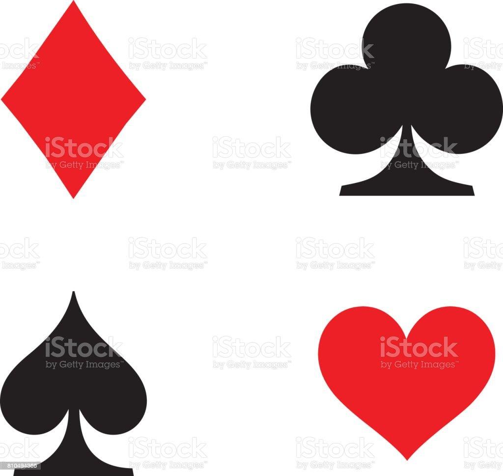 Tocando cartão conjunto de símbolos - ilustração de arte em vetor