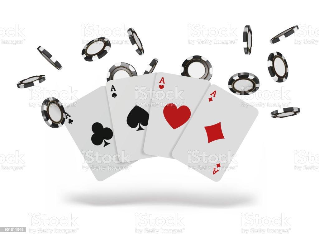 Spelkort Och Pokermarker Flyga Casino Konceptet Pa Vit Bakgrund Poker Casino Vektorillustration Vektorgrafik Och Fler Bilder Pa Affisch Istock