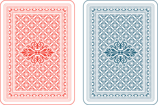 Playing cards back delta