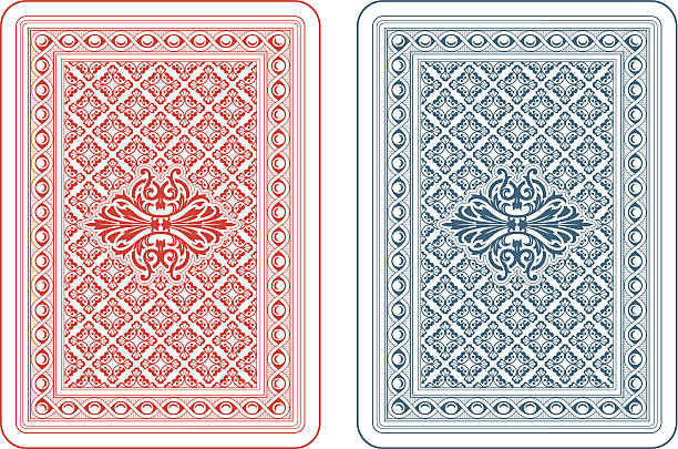 spielkarten rückseite delta - kartenspielen stock-grafiken, -clipart, -cartoons und -symbole