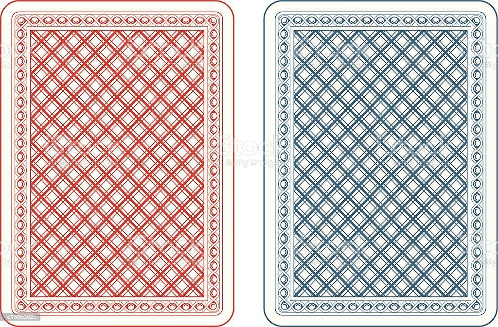 Cartas de baralho epsilon costas - ilustração de arte em vetor