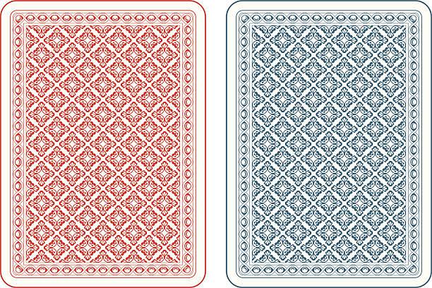 spielkarten rückseite gamma - kartenspielen stock-grafiken, -clipart, -cartoons und -symbole
