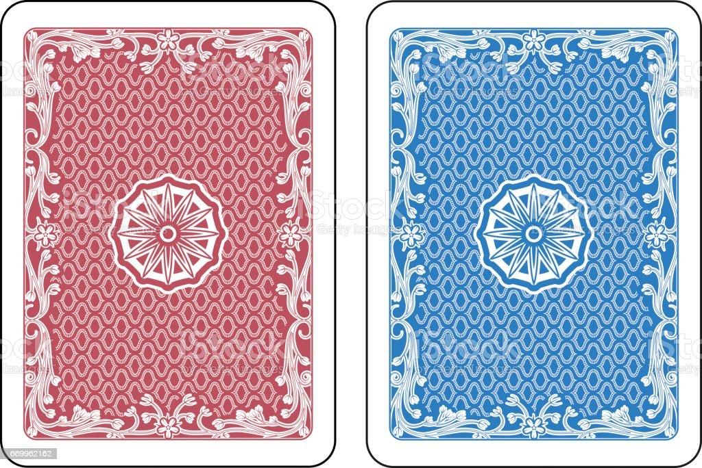 Cartas de jogar de volta - ilustração de arte em vetor