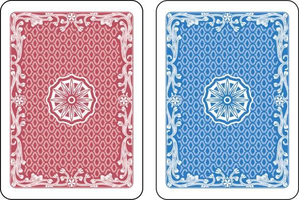spielkarten zurück - kartenspielen stock-grafiken, -clipart, -cartoons und -symbole