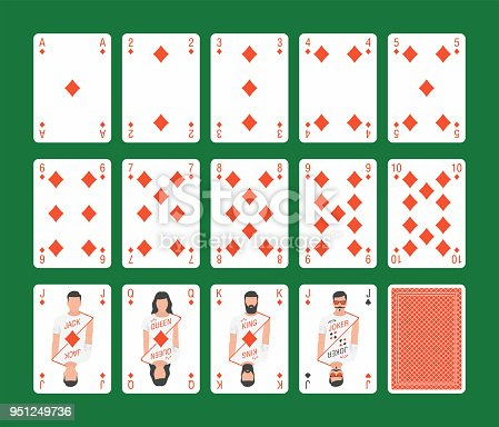 istock Playing Cards Diamonds Set 951249736
