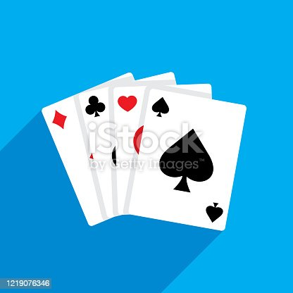istock Playing Cards Flat 1219076346
