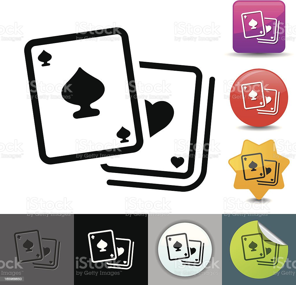 Playing cards icon | solicosi series vector art illustration