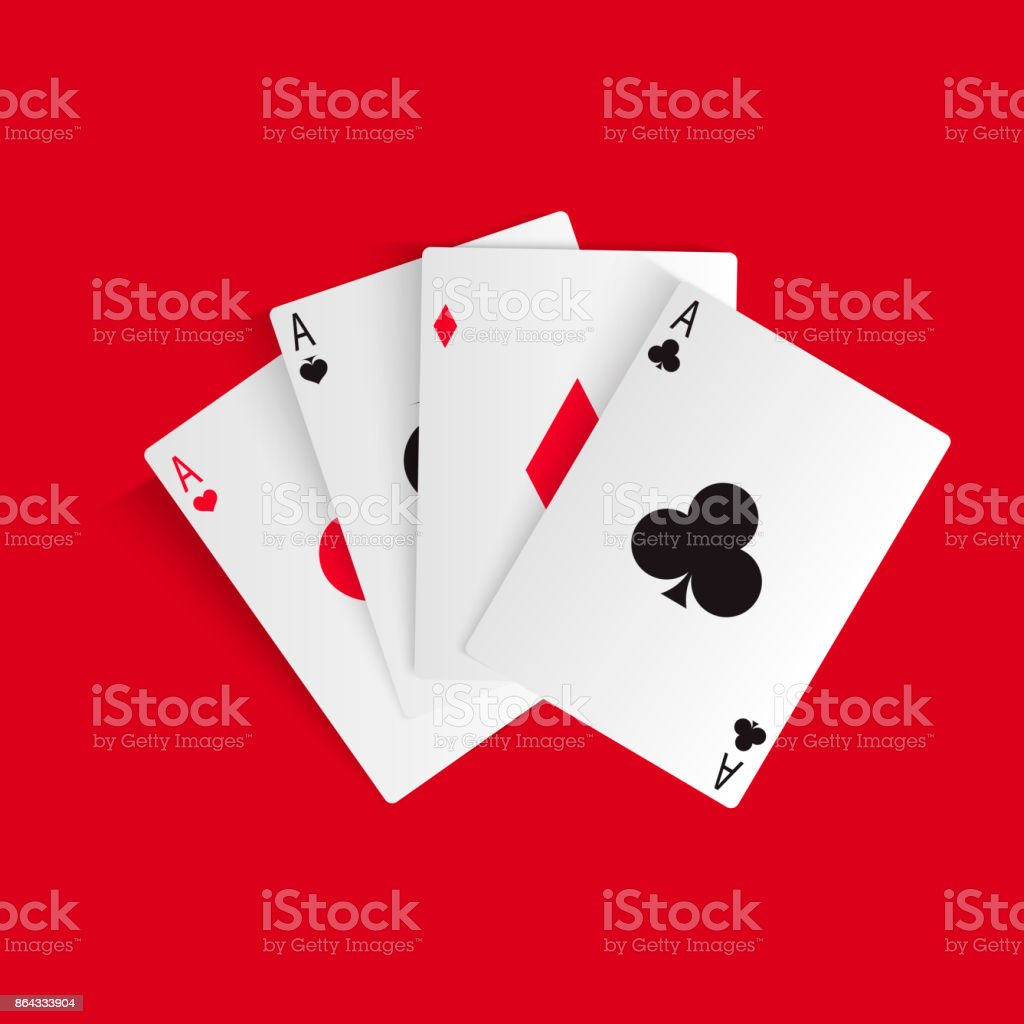 Playing cards isolated on white. vector art illustration