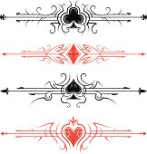 playing cards horizontal page dividers.