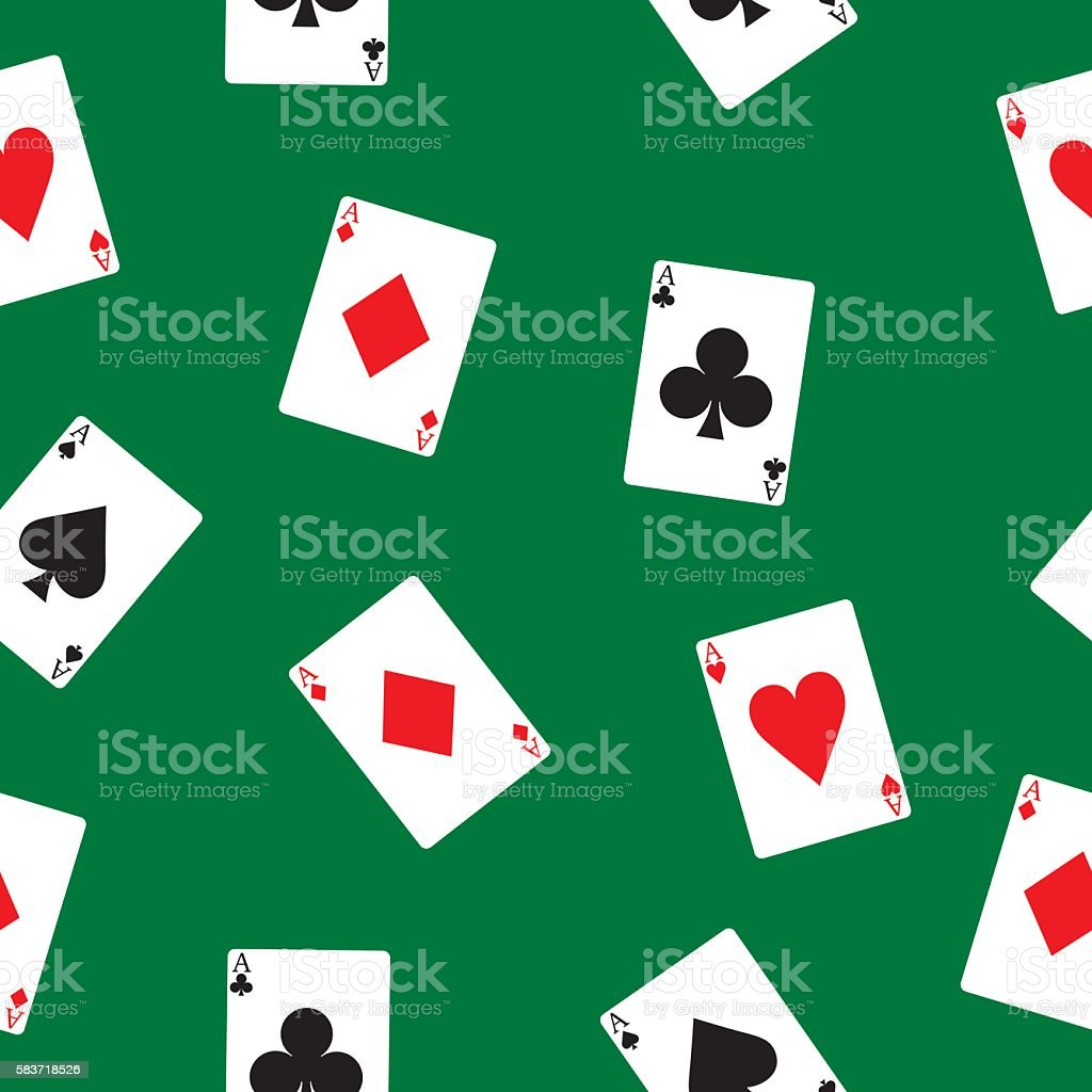 Playing Cards Pattern vector art illustration