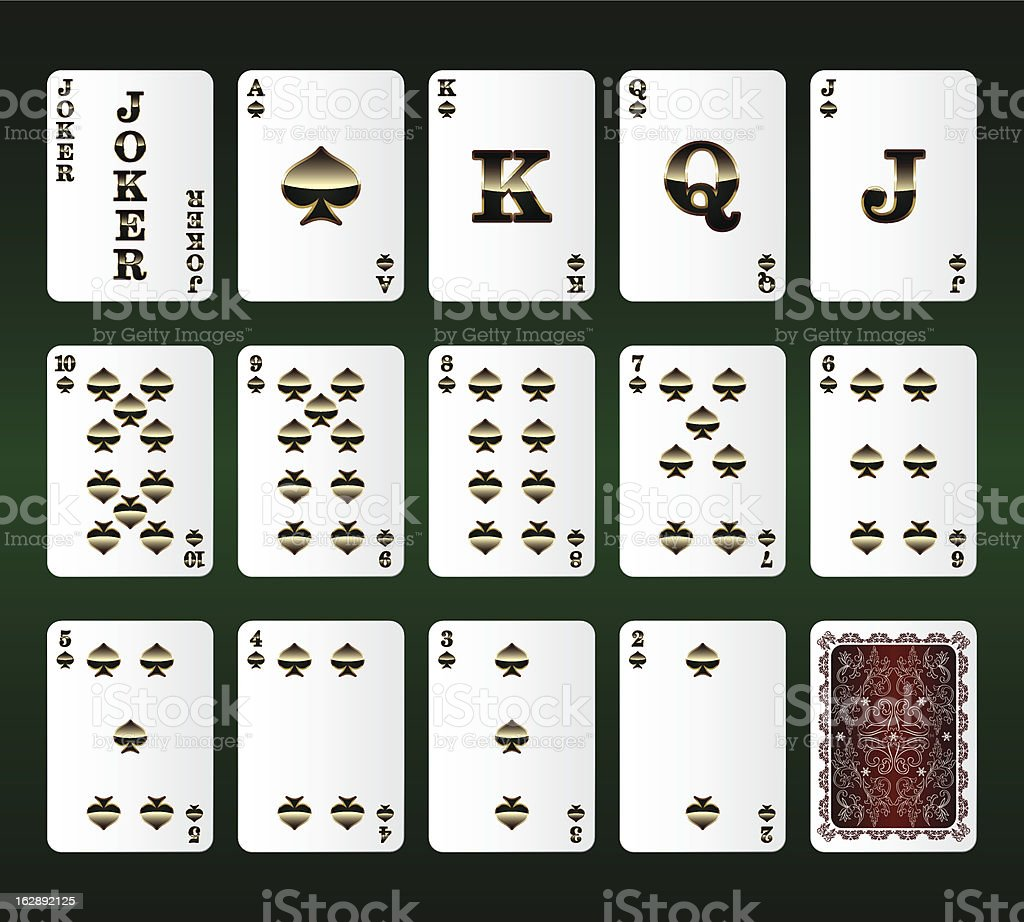 Playing cards Set. Spades. Vector illustration royalty-free stock vector art