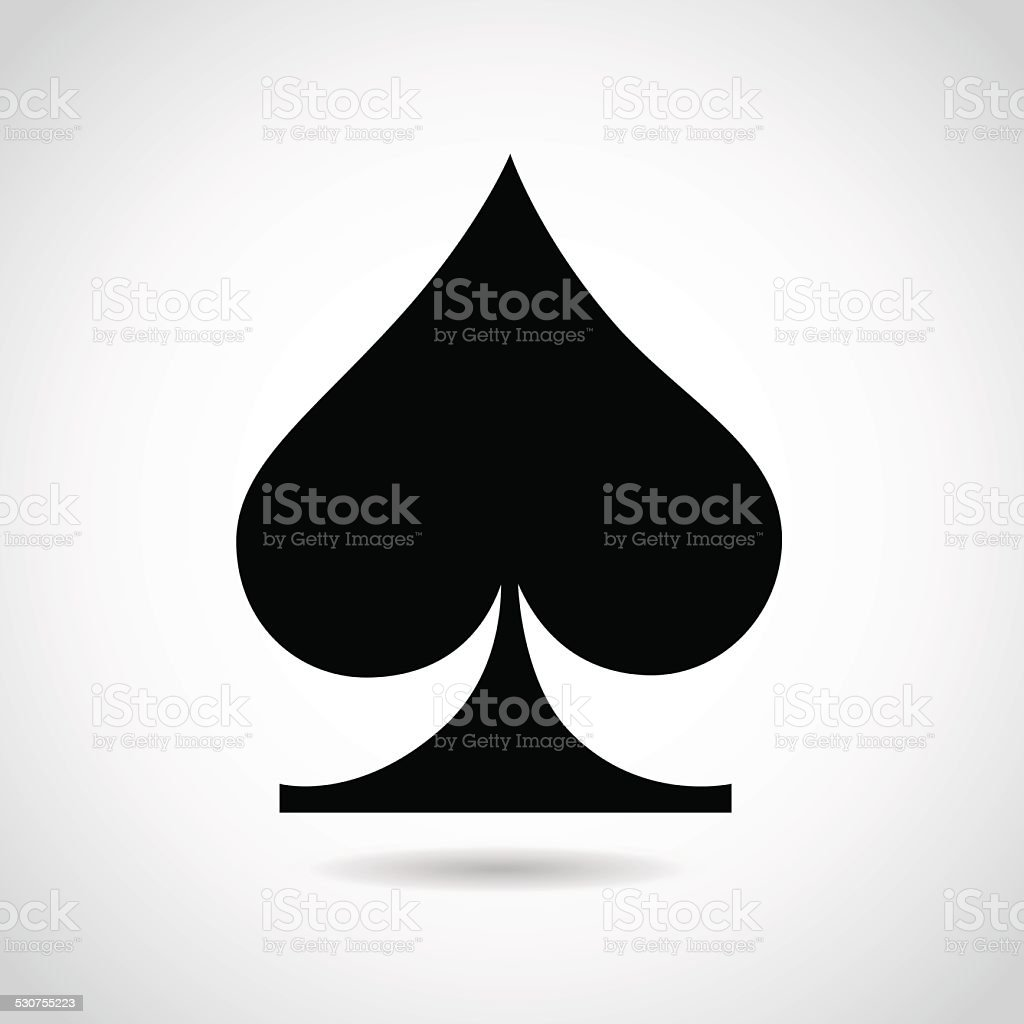 Playing Cards Spade Symbol Stock Vector Art More Images Of Ace