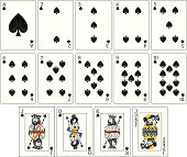 Playing Cards - Spades Suit