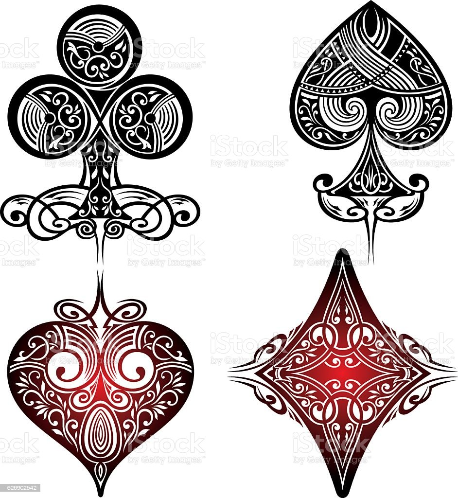 Playing Cards Symbols - ilustración de arte vectorial