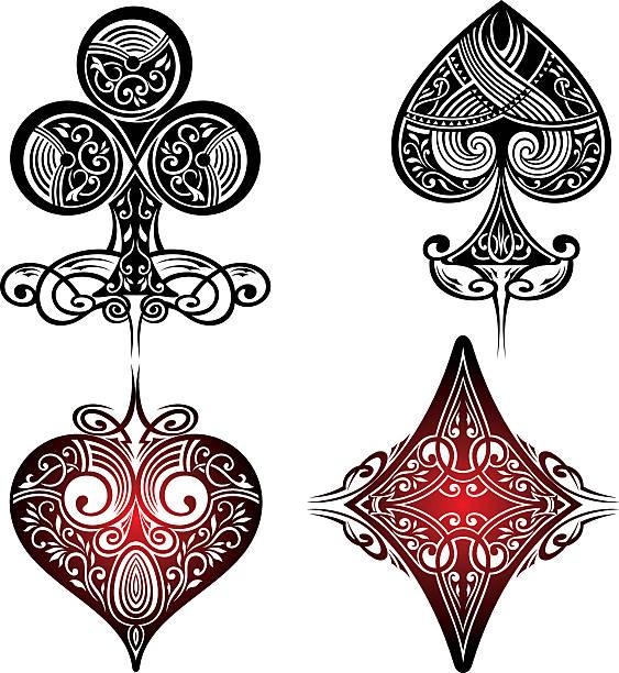 Playing Cards Symbols - ilustración de arte vectorial