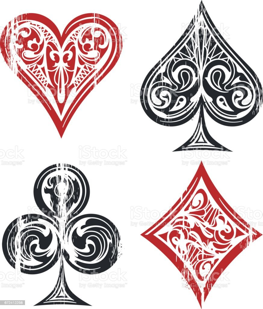 Playing cards symbols stock vector art more images of ace playing cards symbols royalty free playing cards symbols stock vector art amp more images biocorpaavc