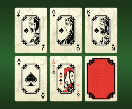 Playing cards (spades)