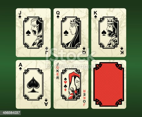 istock Playing cards (spades) 456584037