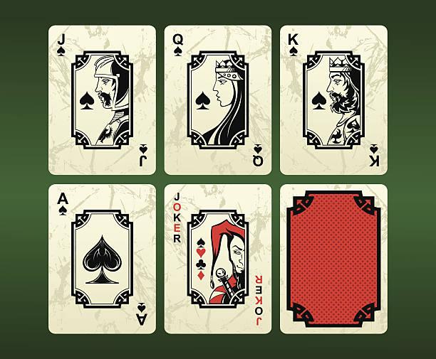 spielkarten (spaten - kartenspielen stock-grafiken, -clipart, -cartoons und -symbole