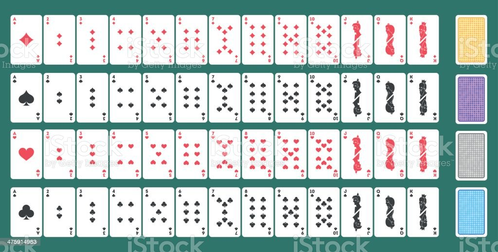 Playing Cards vector art illustration
