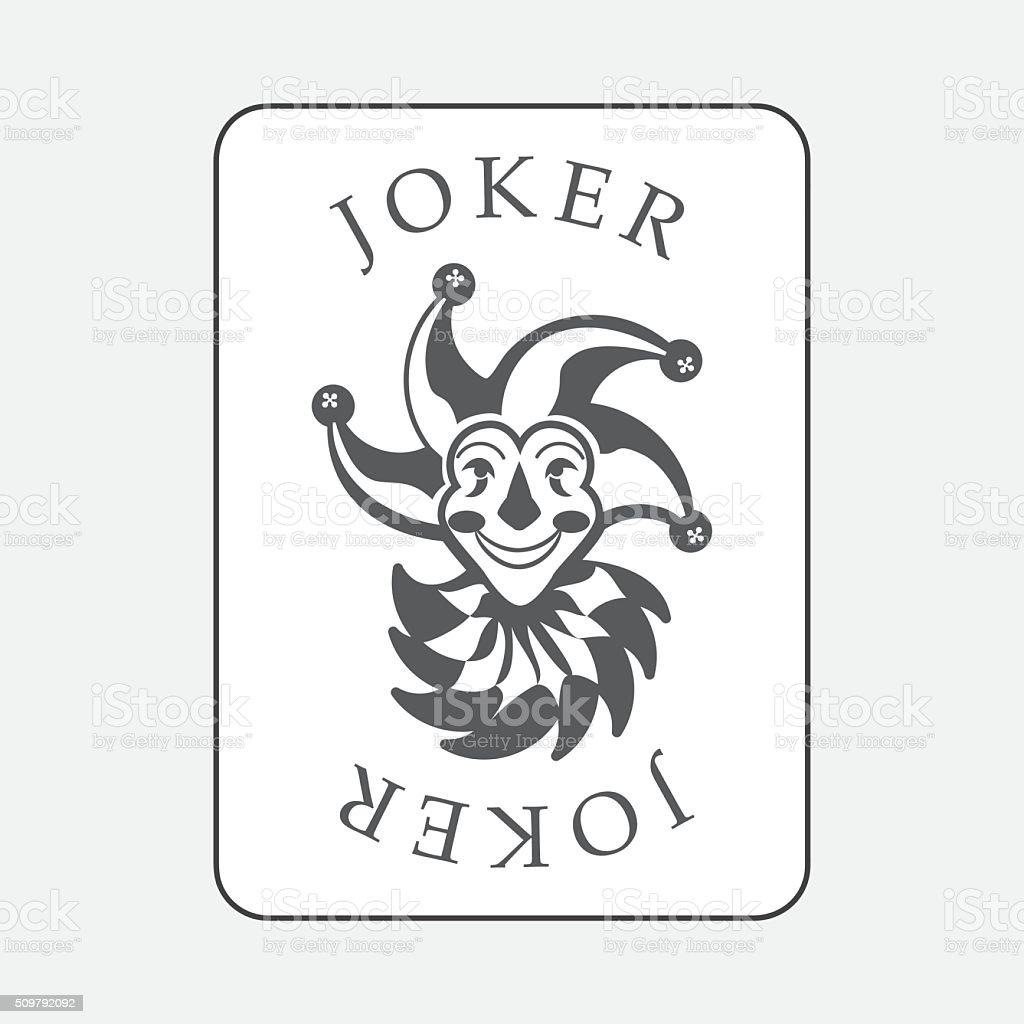 Karty Do Gry Z Jokerpostac Fikcyjna Stockowe Grafiki Wektorowe I