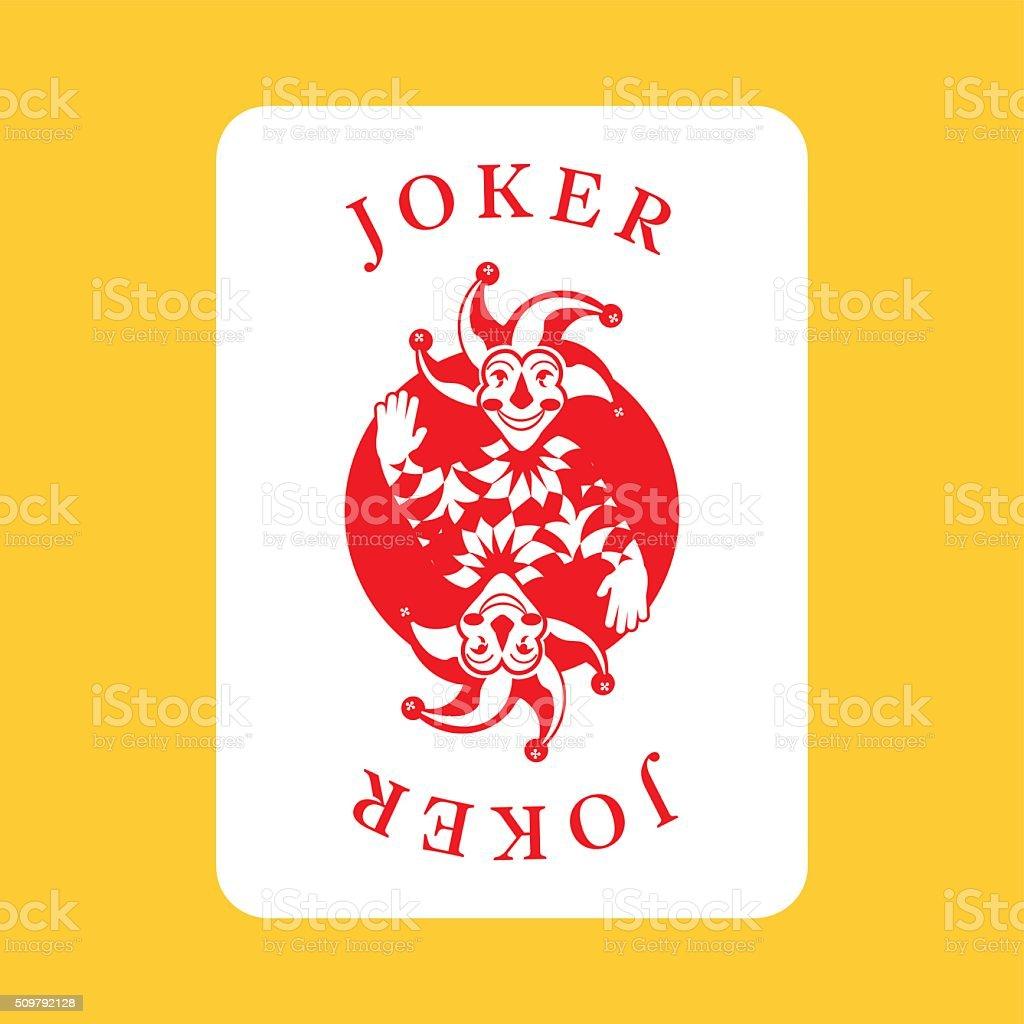 Karty Do Gry Z Jokerpostac Fikcyjna Stockowa Ilustracja Wektorowa