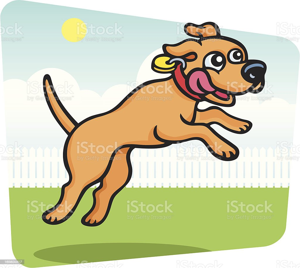 Playing Catch vector art illustration