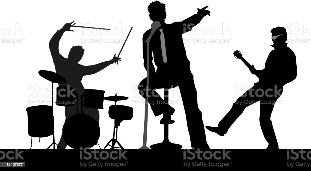 Playing Concert vector art illustration