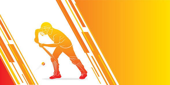 playing cricket sports poster