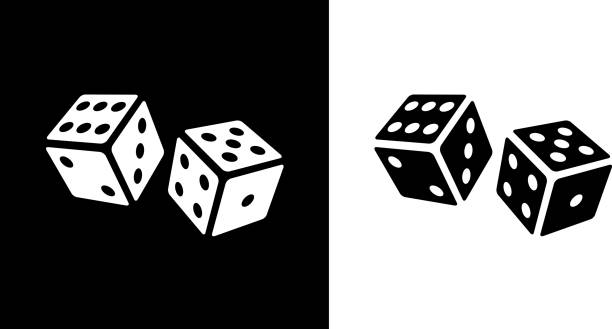 playing cubes rolling dice. - dice stock illustrations, clip art, cartoons, & icons